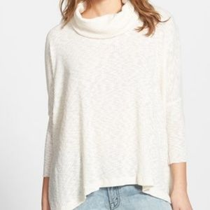 Free People Beach World Traveler Cowl Neck Top